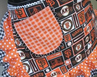 Aprons - Womens San Francisco Giants Aprons - Giants Apron - Annies Attic Aprons - Etsy Aprons - Orange Aprons - Black Aprons - Waist Aprons