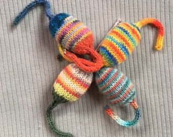 Catnip Toys Set of Four in Stripes for Hours of Feline Fun