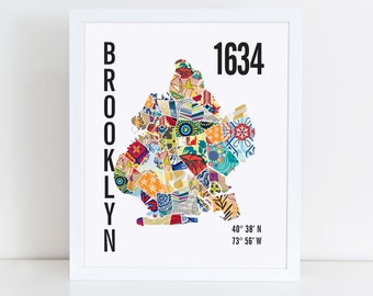 Brooklyn City Map Print