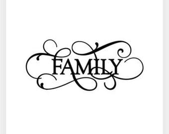 Family vinyl decal, wall art
