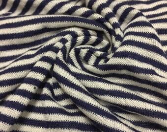 Denim light charcoal 2tone slub 2x2 hacci rib rayon poly for Space dye knit fabric by the yard