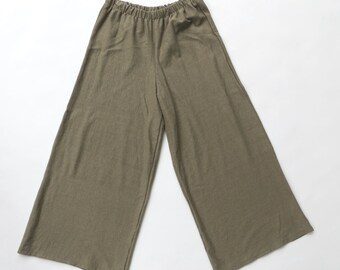 SALE 132: Hemp Jersey Gaucho// Moss // Size Small