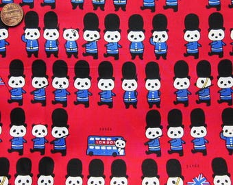 Cute Cotton Fabric - Panda English Soldier