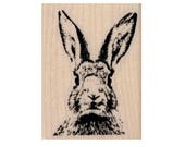 Easter rabbit head  bunny  rubber stamps stamp  stamping scrapbooking supplies  19383
