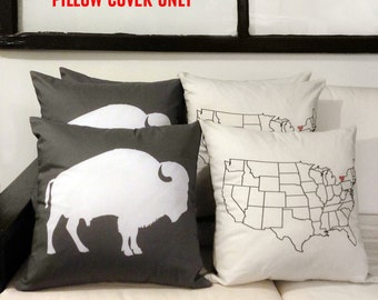 Buffalo New York Throw Pillow Cover *Pillow Cover Only*