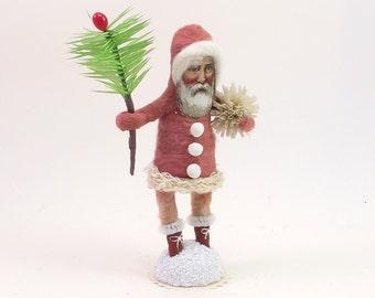 Vintage Inspired Spun Cotton Classic Santa Figure