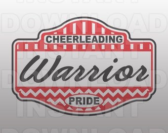 Warrior Pride School Spirit Cheerleading SVG File -Commercial & Personal Use- Vector Art SVG For ...