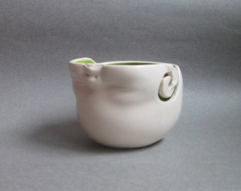 Yarn Bowl...Upsidedown Baby Head Yarn Bowl, small, ready to ship