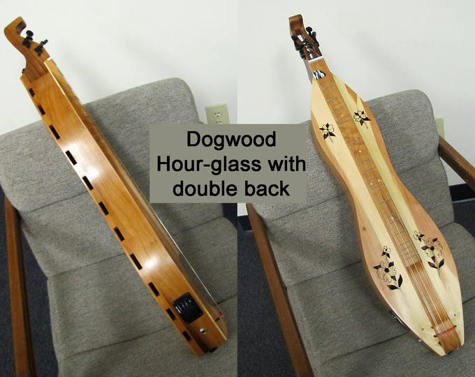 Custom Double-back Mountain Dulcimer, 4-string, with optional electric