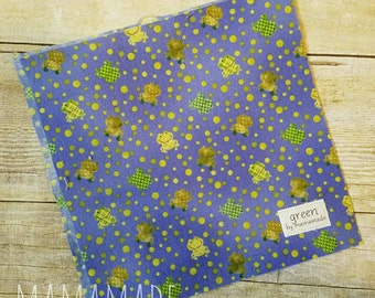 Frogs - Reusable Sandwich Bag | Snack Bag | Waterproof | Travel Bag from green by mamamade