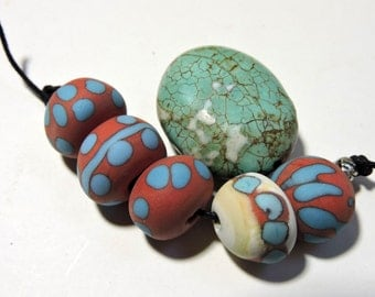 Lampwork Beads NATURALS Two Sisters Designs 011517D
