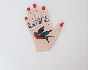 Hand of Love Papier Mache Wall Art