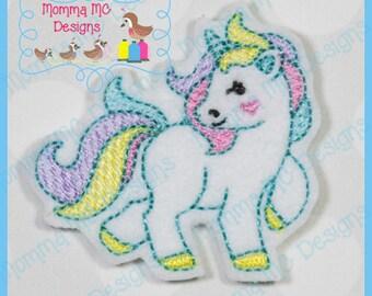 Unicorn 2 Felt Feltie Embroidery Design