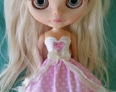 SALE Kiss My A strapless dress for Blythe and Pullip