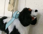 RESERVED Cavalier King Charles Spaniel Ornament & Personalized Dog Bone
