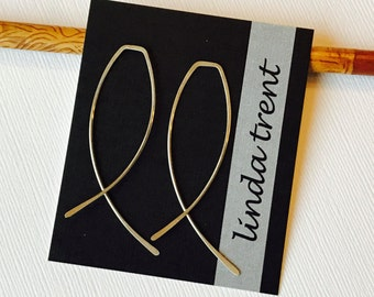 Criss Cross Threader Earrings. Threader Earrings. Sterling Open Hoops. Silver Threader Earrings. Rose Open Hoops. Silver Open
