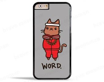 Samsung Galaxy S7 Case Word Break Dance Cat 80s Hip Hop Music Lover Gift Idea Cute Cat iPhone 7 Case iPhone 7 Plus Case
