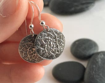 Silver Lotus Earrings Handmade Pure Silver
