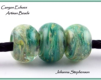 Big Hole Beads Sea Opals Canyon Echoes Lampwork Beads