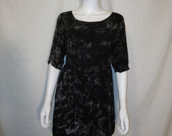 90s Vintage short dress, 90s Rayon Dress, boho bohemian gypsy hippie hippy dresses