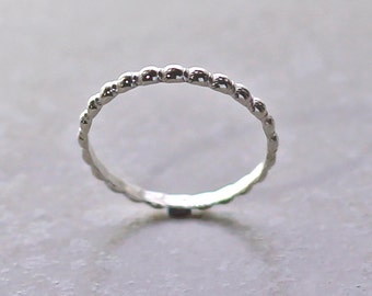 Sterling Silver Dotted Ring Modern Minimal Recycled Sterling Silver Stacking Ring Ethical Jewelry Sterling Silver Ring Silver Band Wedding