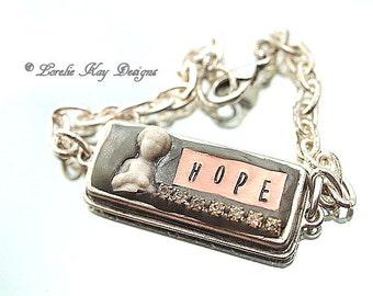 Hope Frozen Charlotte Bracelet Tiny Charlotte Copper Stamped Bracelet Lorelie Kay Original