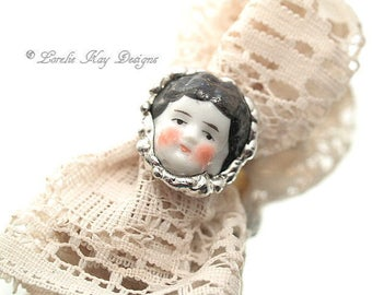 Doll Face Ring Doll Head Ring Gold Plated Lorelie Kay Designs Doll Jewelry