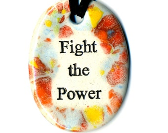 Fight the Power Ceramic Necklace in Multicolor