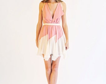Sale- pink and ivory dress