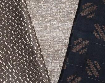 Vintage Japanese Kimono Fabric Bundle 3 Sleeve Mix Crafting - Classic Combo