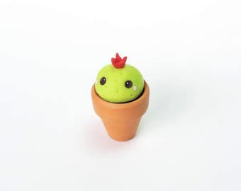 Cute Blushing Baby Cactus Miniature Figure Decoration