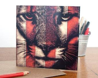 Puma Greetings Card - Blank Pam Glew Greetings Card