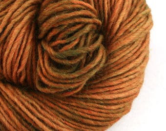 Brunswick Hand Dyed chunky weight 70/30 Corriedale wool Mohair blend yarn 140 yds 4oz Rusty