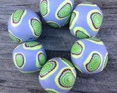 Sweet and Feminine Set of Handmade Polymer Clay Beads in Lavender