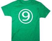 Kids CIRCLE Ninth Birthday T-shirt - Green