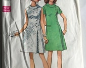 AFTER CHRISTMAS SALE Vintage Dress Pattern, Simplicity Pattern 8541, 60's Pattern, Mod Patterns, Size 40, Etsy, Etsy Supplies, Sewing Guide