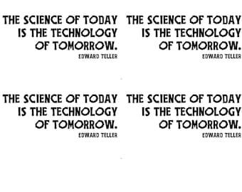 instant download postcard Science is Technology Edward Teller political postcard protest resist