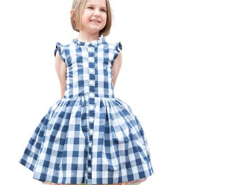 Child Dress PDF Sewing Pattern, The Picknick Dress Sized 12mo to 12y