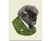 Bison art print by Ryan Berkley 8x10