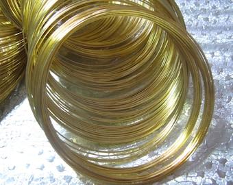 Memory Wire Steel Gold Plated  24 Loops  Bracelet