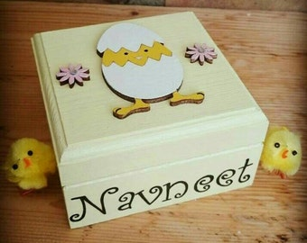 Personalised Easter boxes with mini easter egg chocolates