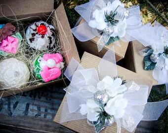 Holiday Soap Gift, Gift Box, Teacher Gift, Mom Gift, Hostess Gift, Soap Set, Birthday Gift, Christmas Gift, Friend Gift, Holiday Soap