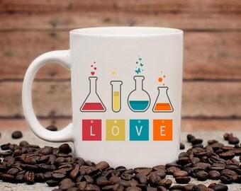 Love Science Coffee Mug | Science Lab Coffee Mug | Gift for Coffee Drinker | Coffee Mug Gift | Sublimation Mug | Science Teacher Mug