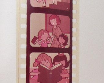 People Are Like Rainbows - Vintage Educational Filmstrip - Film Strip - 35mm film - cartoon illustrations - guidance counselor