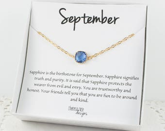 September Birthstone Gold Bracelet, Sapphire Gold Bracelet, September Birthday Bracelet, Gold Bracelet, September Birthstone Bracelet