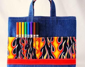 Crayon Tote • Crayon Bag • Coloring Bag • Art Tote • Crayon Holder • Crayon Roll • Ring Bearer • Busy Bag • Activity • ARTOTE in HotShot