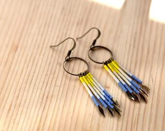 Beaded Fringe Earrings - No. 2