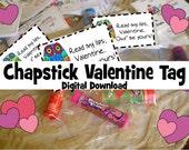 Valentines Day Bag Topper Labels - Digital File -
