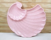 Vintage Shafford Original Pink Shell Serving Tray Relish Plate Platter Japan Ceramic
