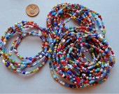 34 Inch Strand of Christmas African Trade Beads